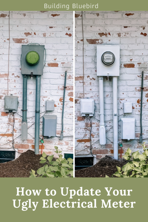 How to camouflage an ugly electrical meter with paint and perennials | Building Bluebird #diy