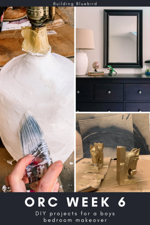 These affordable and easy DIY projects add personality into my son's bedroom makeover | Building Bluebird #orc #bhgorc