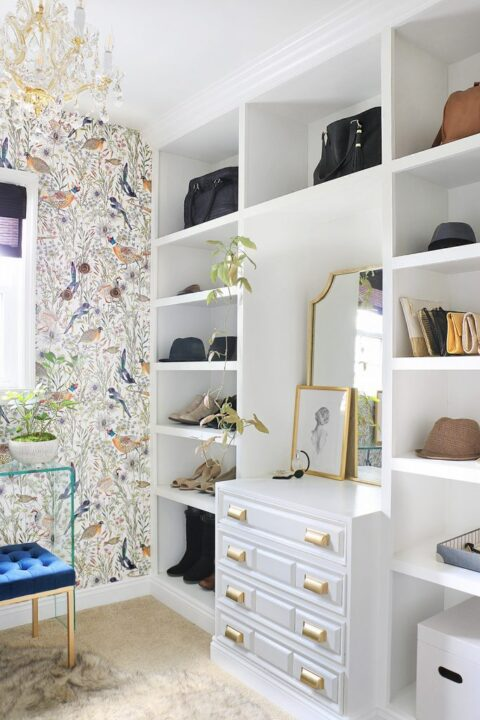 Bright and airy closet makeover with Home Made by Carmona