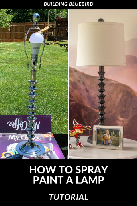 Quick and easy tutorial to give your old lamp a modern, new look with spray paint | Building Bluebird #diy
