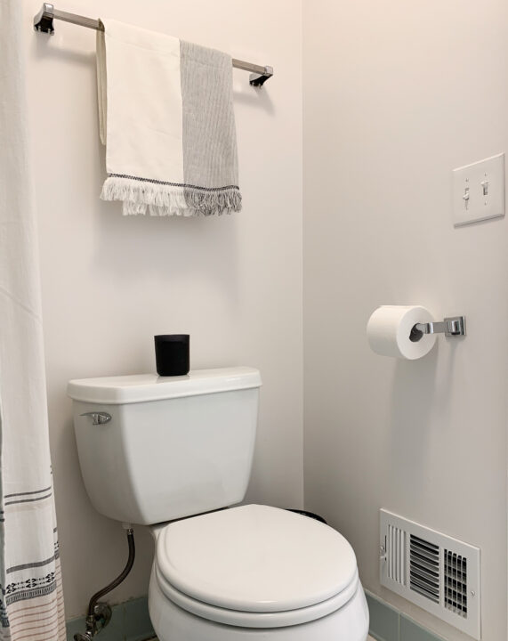 Master bathroom makeover to add style and function | Building Bluebird #vintage #retro