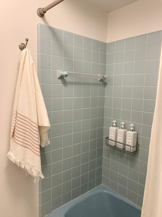 Budget-friendly master bathroom makeover | Building Bluebird #retro #bathroommakeover