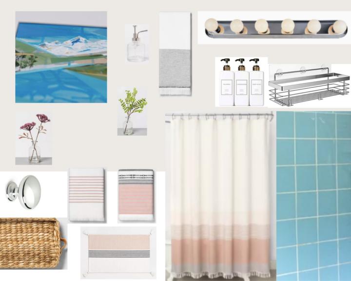 Retro bathroom mood board updates | Building Bluebird