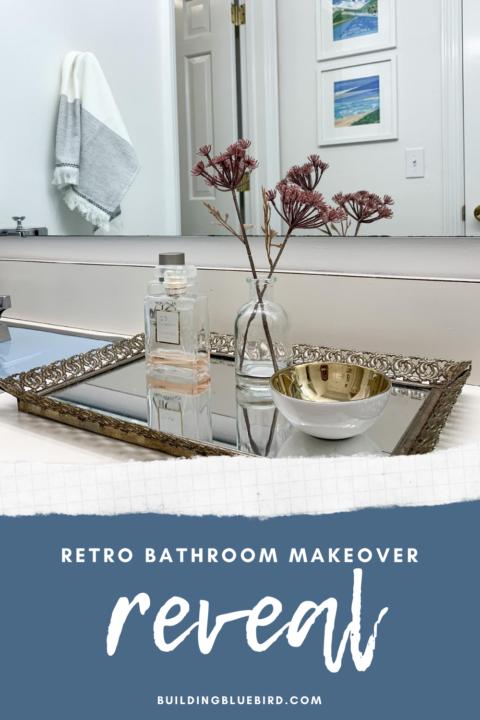 How to add function and style to a retro bathroom | Building Bluebird #bluetile #vintage #masterbathroom #bathroommakeover