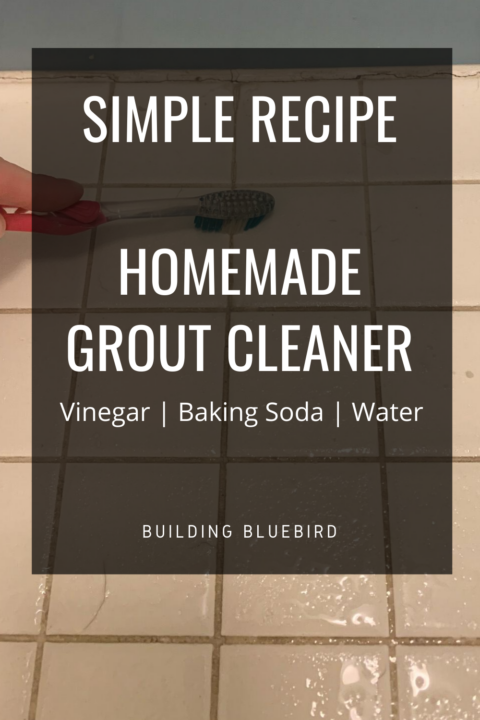How to whiten tile grout with this simple, homemade recipe | Building Bluebird #cleaninghack #sustainable #bathroom #environmentallyfriendly