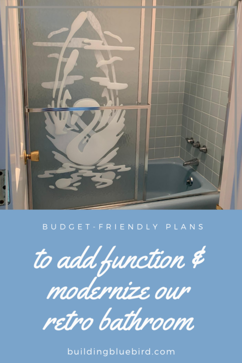 Updating a retro blue bathroom while keeping its charm | Building Bluebird #vintage #bluetile #retrobath