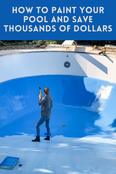 We DIY'ed painting our pool and saved thousands of dollars!   Building Bluebird #tutorial #pool #painttutorial #homerenovation