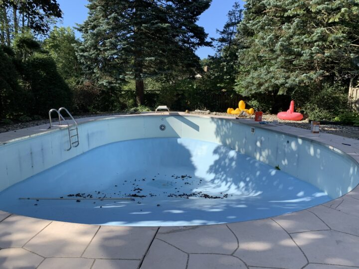 How to drain your pool to prep for paint   Building Bluebird #tutorial #paint #diy #home renovation
