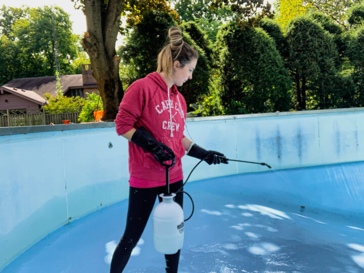 Acid wash your pool to remove dirt and grime   Building Bluebird