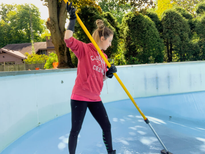 How to paint a pool   Building Bluebird #diy #tutorial #homerenovation