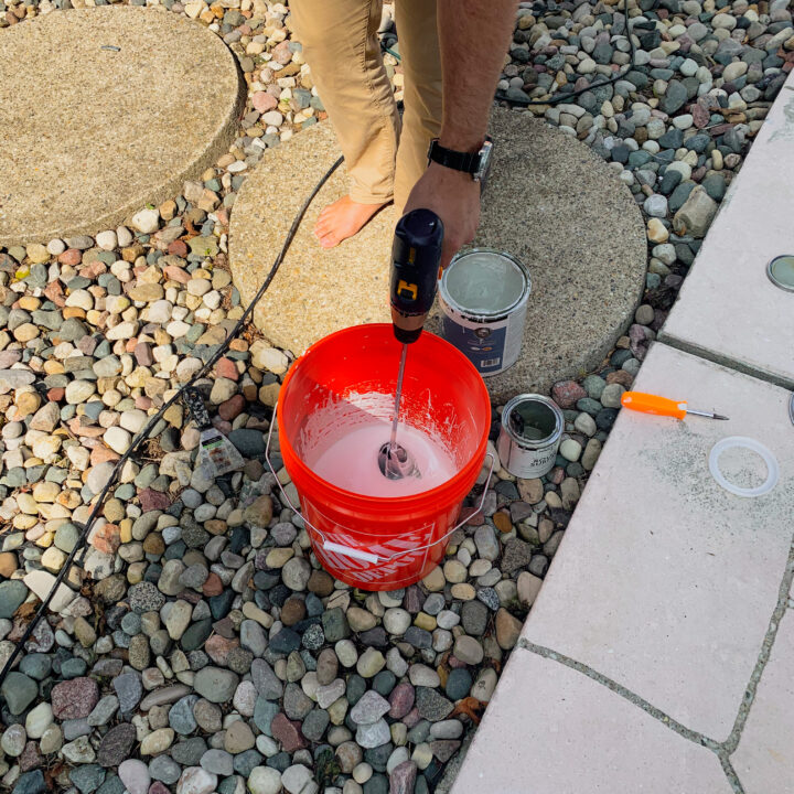 How to apply epoxy paint to your pool   Building Bluebird