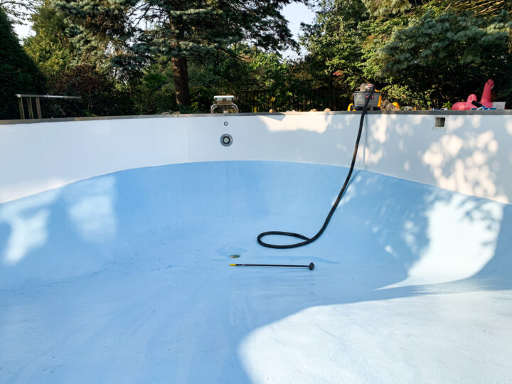 How we painted our pool in less than a week   Building Bluebird #tutorial #paint #diy #homerenovation
