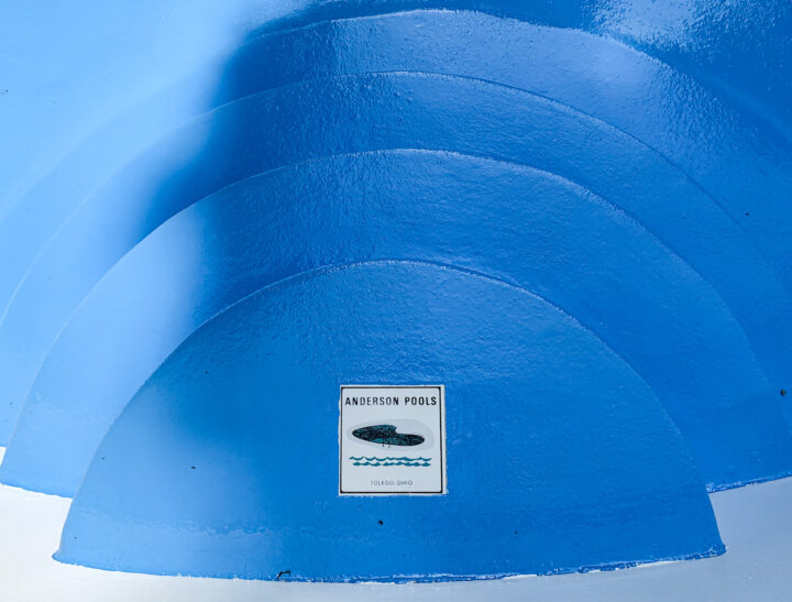 Blue heaven epoxy paint for the pool   Building Bluebird