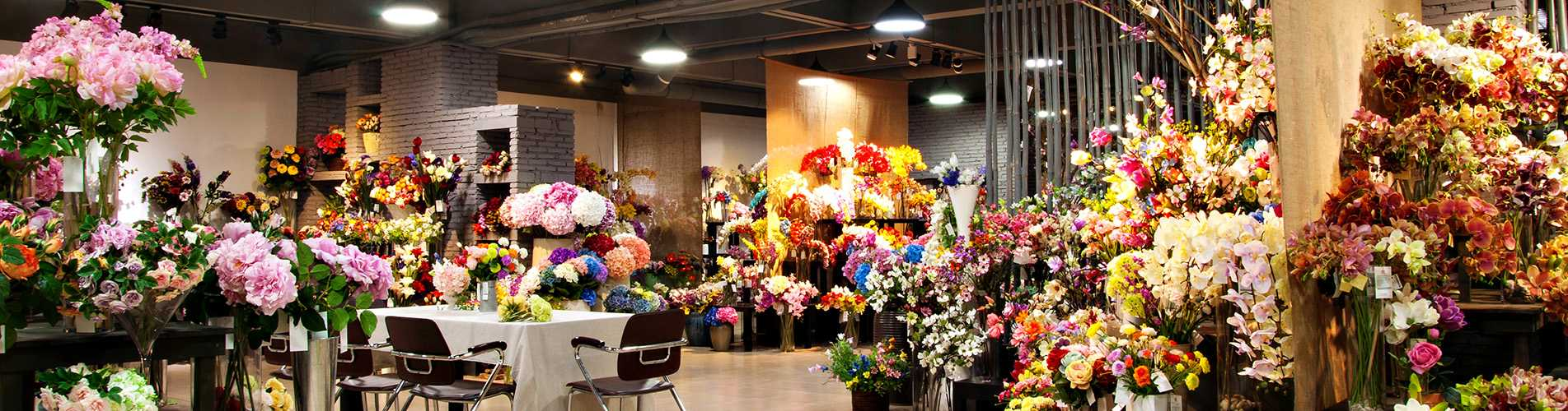 silkflowers showroom