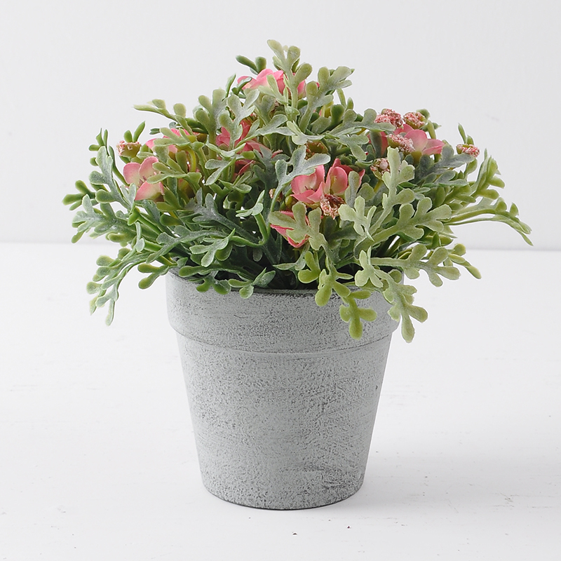 Nordic style Artificial Mini wild potted plant PINK