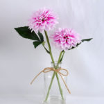 Artificial Flower 25*15*35CM Chrysanthemum in glass pot with fake water GS-52719024+F-Z1