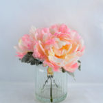 Artificial Flower 23*25*27CM flower in glass pot with fake water GS-52719007-P1