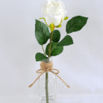 Artificial Flower 8*8*32CM single rose in glass pot with fake water GS-52719014-W1