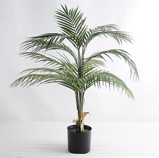 Artificial Plants Palm Tree Faux Palm Leaves Greenery Tropical Palm Green Plastic Plant Leaf in PotGF 07218006 - Artificial Plants Palm Tree Faux Palm Leaves Greenery Tropical Palm Green Plastic Plant Kwai Leaf  in Pot