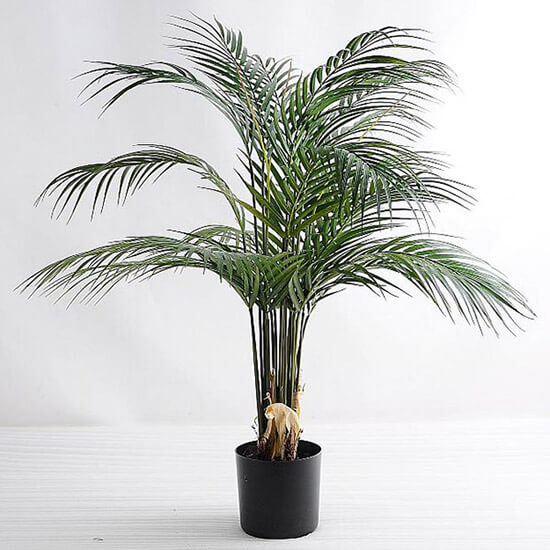 Artificial Plants Palm Tree Faux Palm Leaves Greenery Tropical Palm Green Plastic Plant Leaf in PotGF 07218007P0P4 - Artificial Plants Palm Tree Faux Palm Leaves Greenery Tropical Palm Green Plastic Plant Kwai Leaf  in Pot