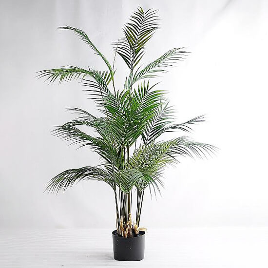 Artificial Plants Palm Tree Faux Palm Leaves Greenery Tropical Palm Green Plastic Plant Leaf in PotGF 07218008 - Artificial Plants Palm Tree Faux Palm Leaves Greenery Tropical Palm Green Plastic Plant Kwai Leaf  in Pot