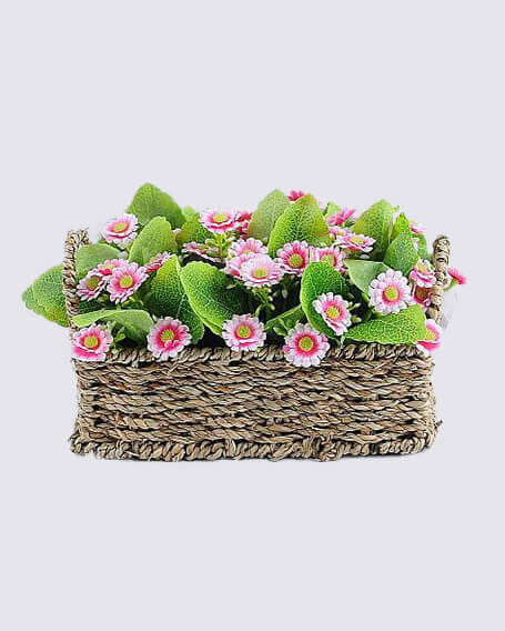 Artificial flower pastoral style small chrysanthemum basket potted GS 03319055P6P24 P1 - Artificial flower pastoral style small chrysanthemum basket potted