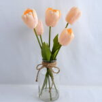 Artificial Flower 23*24*44CM TULIP*6 IN GLASS POT WITH FAKE WATER GS-52719029-C1