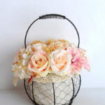 Artificial Flower 20*20*30cm rose hydrangea in basket GS-06919029-C1