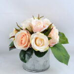 Artificial Flower 15*15*15cm rose in tin pot GS-06919021+P-P1