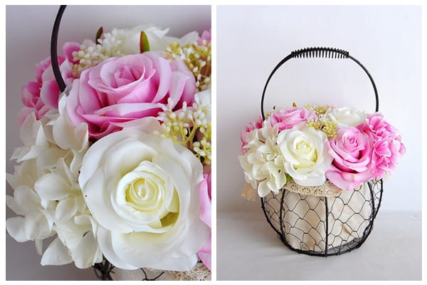 artificial flower rose  wrought iron potted plant 06919029-p1
