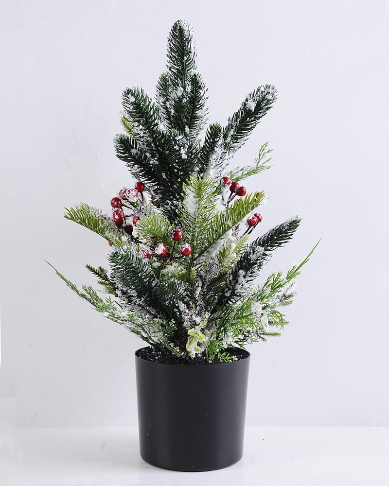 Artificial Plant 35*25*48cm Christmas tree in the plastic pot GS-13519002