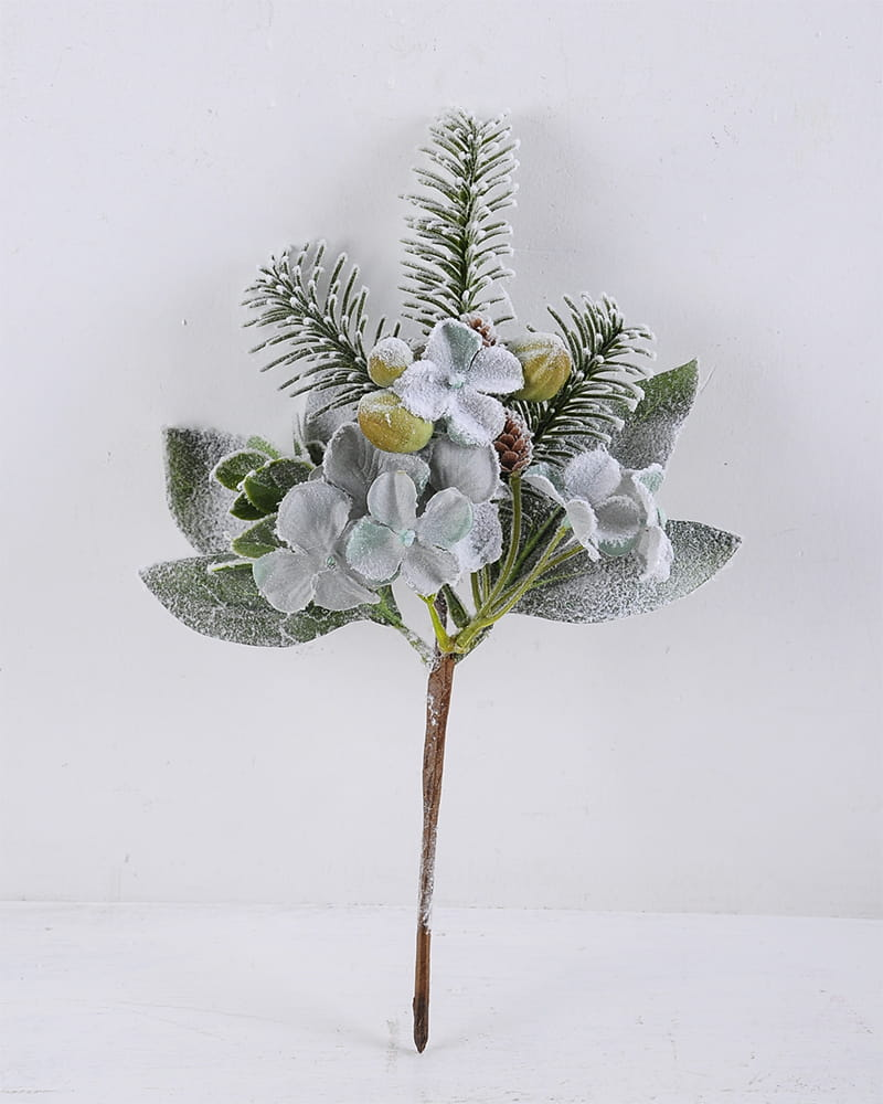 Artificial Plant 18*29CM Hydrangea & Pine Needle Spray GS-56919095