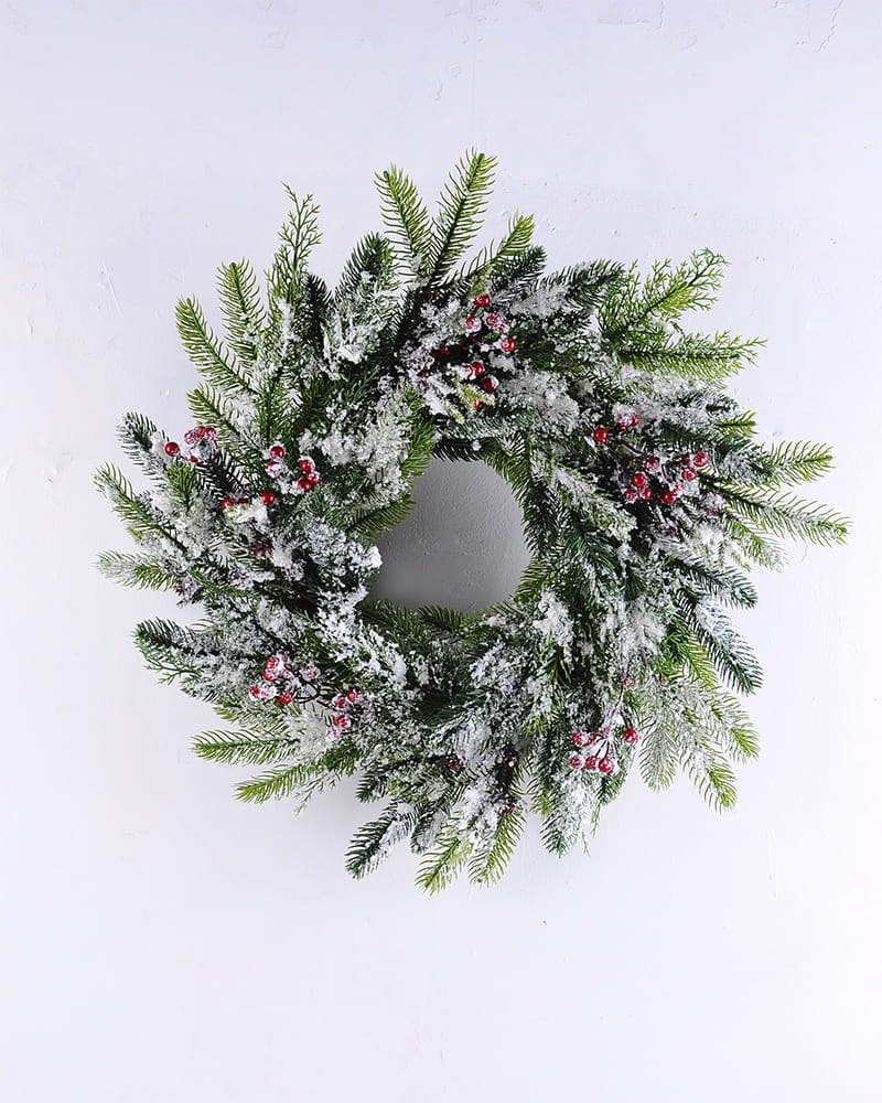 Artificial Plant D:60*11CM Pine needle&berry wreath GS-13519003