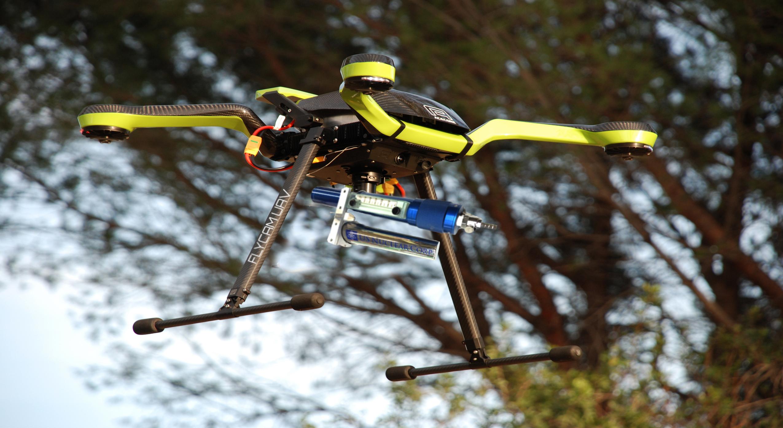 Aerial Radiation Detection, UAV Radiation Monitoring, UAV Radiation Detection System, Drone Radiation Detector, UAV Radiation Detector
