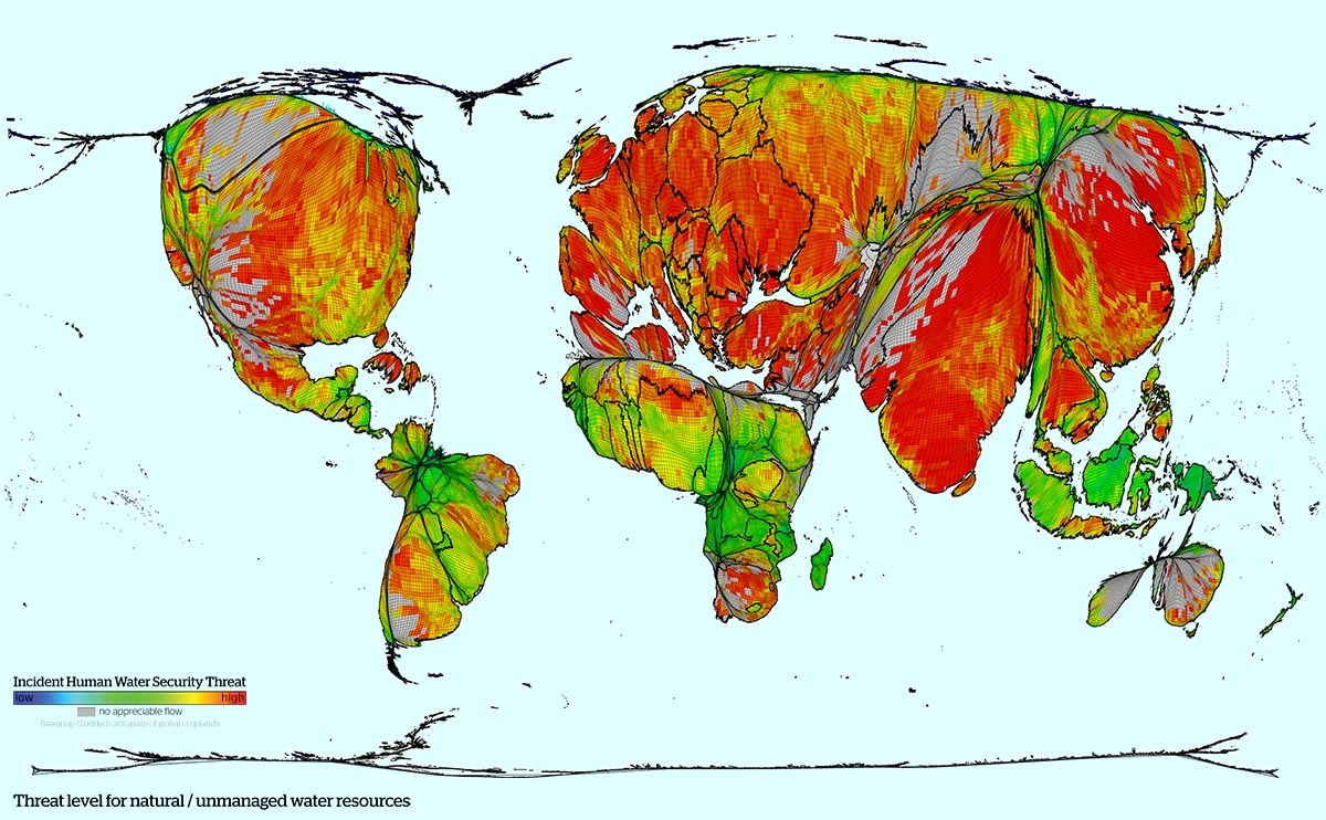 Visualising the world's water security threat