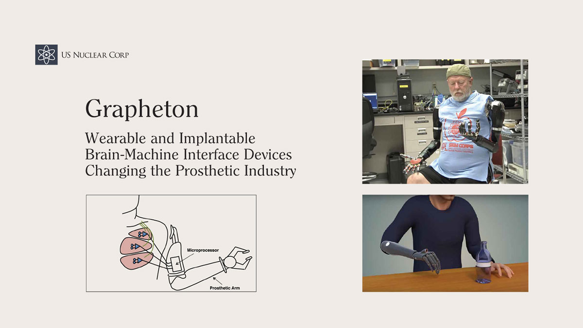 Grapheton Wearable and Implantable Brain-Machine Interface Devices Changing the Prosthetic Industry