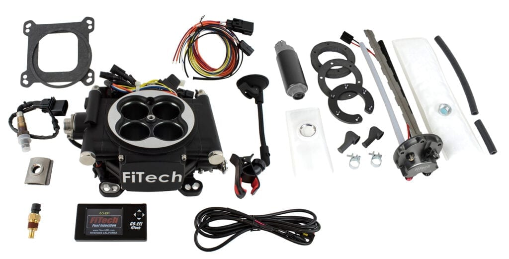 Go EFI 4 - 600 HP EFI System - Matte Black Finish With In Tank Retrofit Kit-P/N 50015