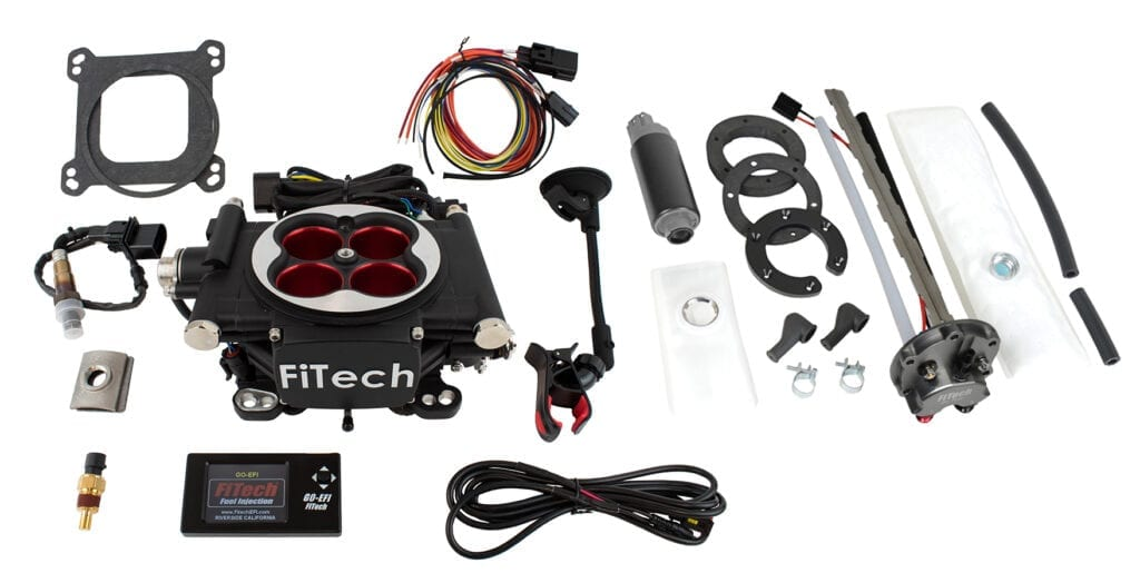 Go EFI 4 - 600 HP EFI System - Power Adder - Matte Black Finish, With In Tank Retrofit Kit-P/N 50015