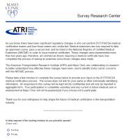 ATRI and Mayo Clinic Survey - Driver Medical Exam Process