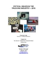 Critical Issues in the Trucking Industry - 2019