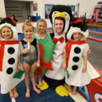 Byers-gymnastics-coach-and-kids-christmas-dress-up