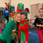 Byers dress up gymnastics kids