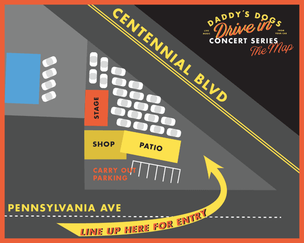 Daddys Dogs Concert Parking Map