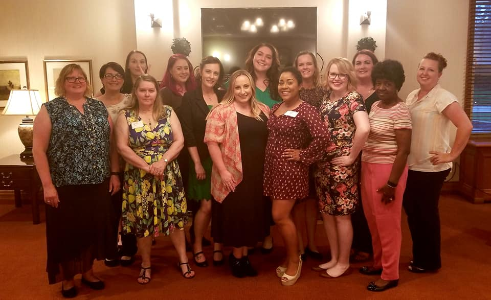 Members of the Offutt Enlisted Spouses Club at the 2019 Installation Dinner