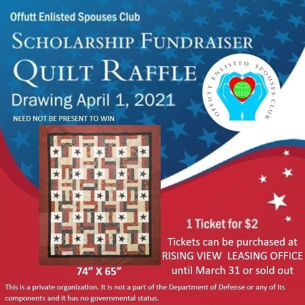 Purchase tickets for our quilt raffle for $2