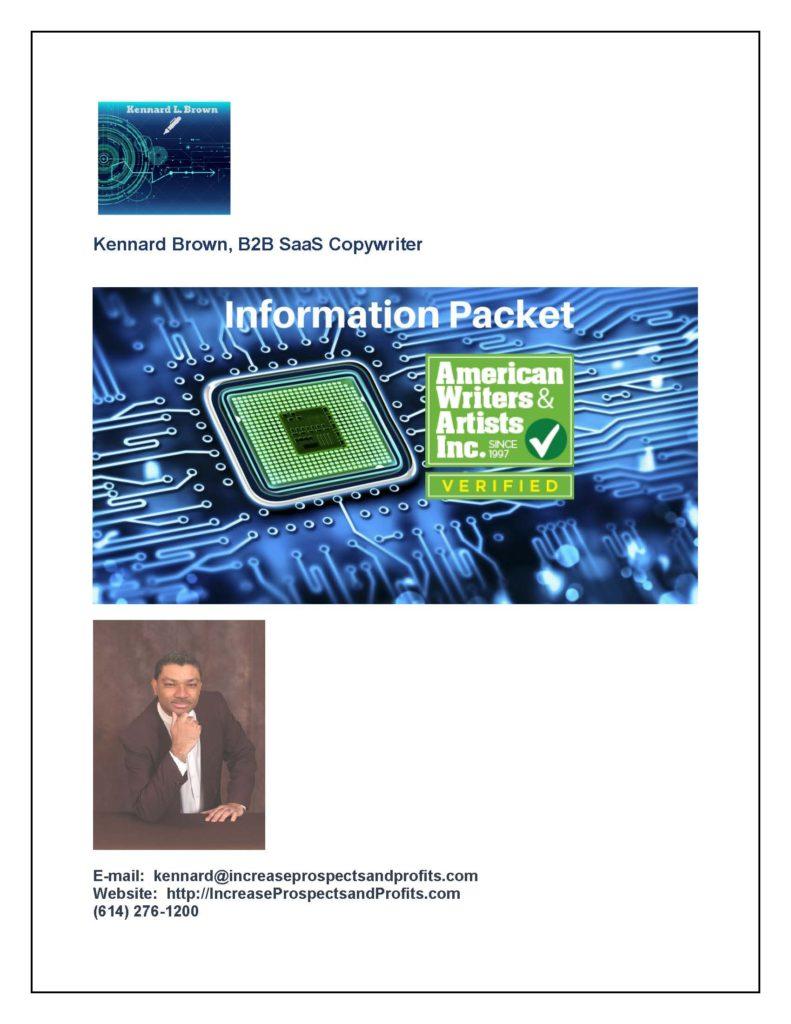 B2B SaaS Copywriter Information Packet