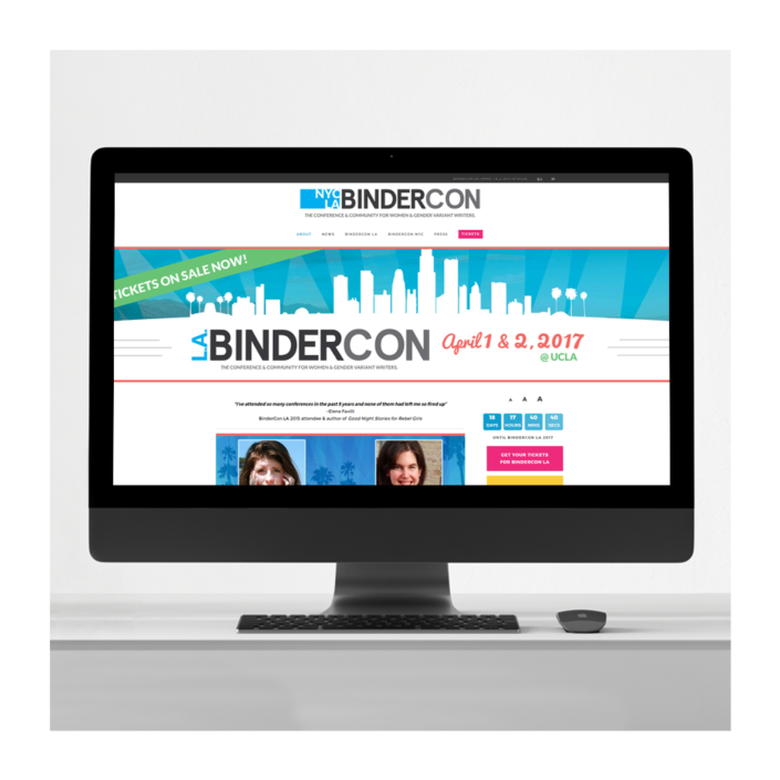 BinderCon Writing Conference Website