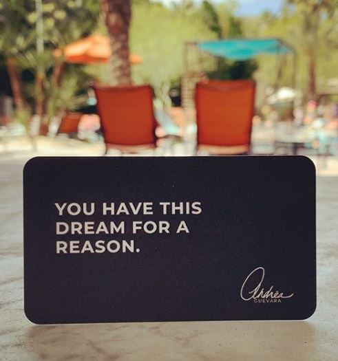 You have this dream for a reason.