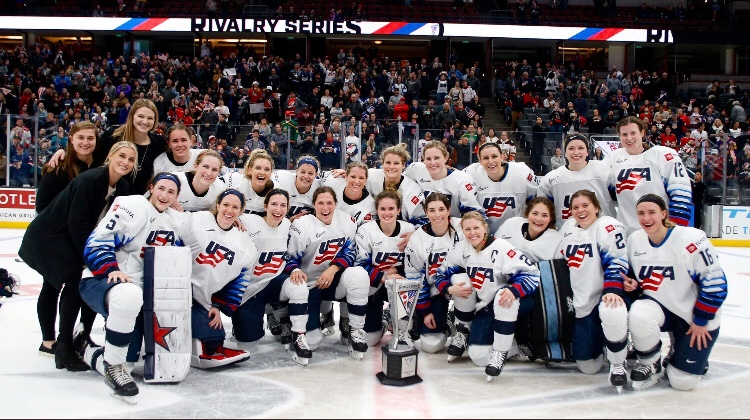 Record Crowd Sees Team USA Win The Rivalry Series In Overtime