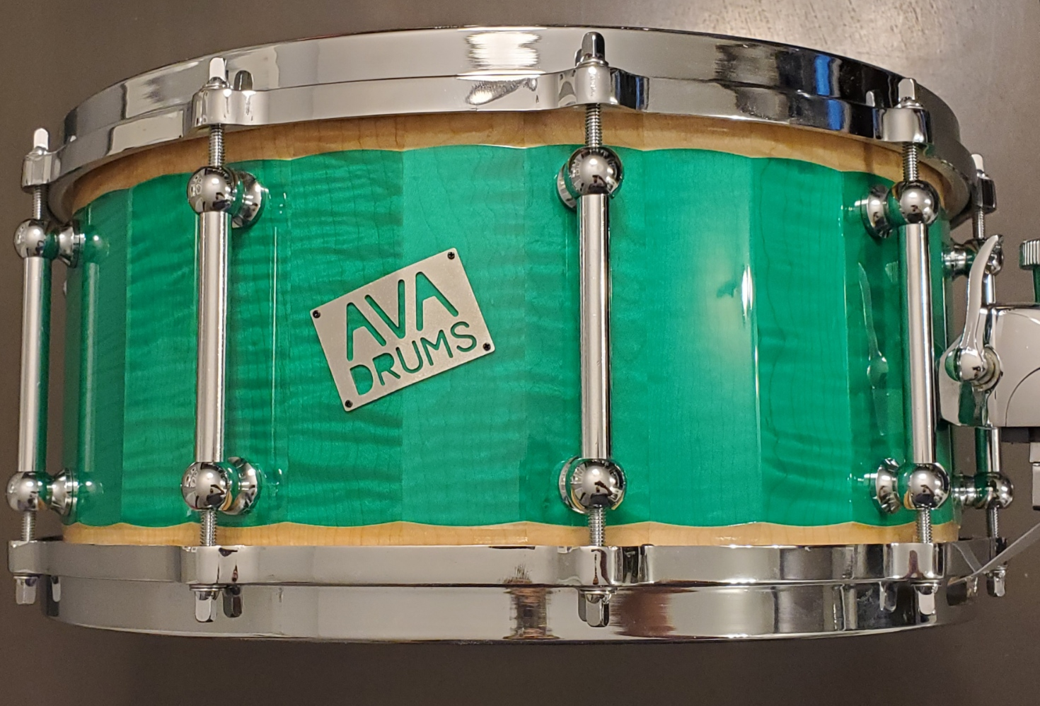 14 X 6.5 FIGURED MAPLE GREEN ACCENT